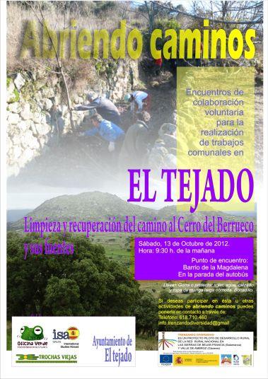 Limpieza camino al Cerro del Berrueco