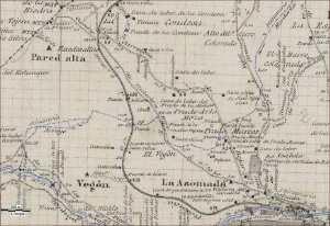 Planos geométrico del Instituto Geográfico y Estadístico del término municipal de Béjar de 1902
